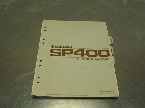 Susuki SP400 OEM Service Manual