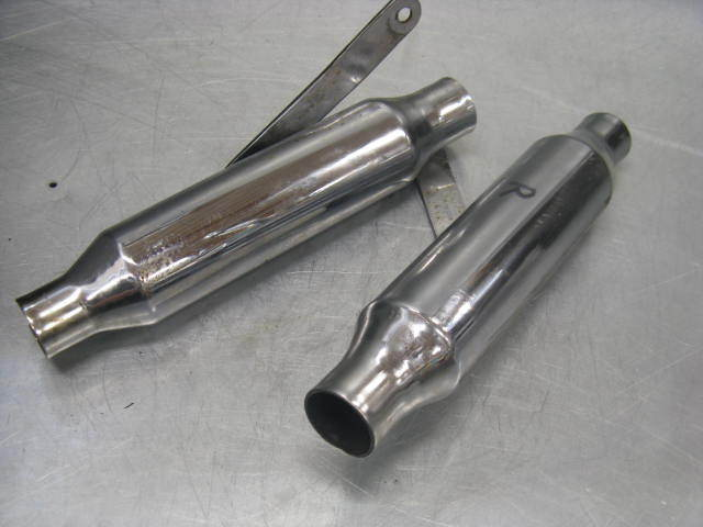 Triumph Trident T150 BSA Rocket III 3 Exhaust Muffler Left Right Pea Shooters