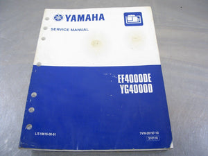 Yamaha OEM Service Manual EF4000DE YG4000D Factory Repair Guide Handbook EF4000