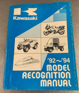 Kawasaki Genuine Recognition Manual Identification Guide Book ID 92-94 1992-1994