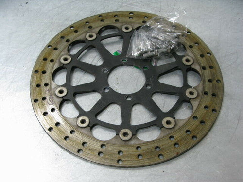 MOTO GUZZI V7 750 CAFE CLASSIC 2010 10 FRONT DISC BRAKE ROTOR + BOLTS 3K MILES