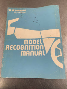 Kawasaki Genuine Recognition Manual Identification Guide Book ID 82-85 1982-1985