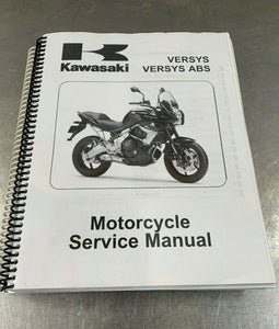 Kawasaki 2010/2011 Versys ABS Copy of Factory Service Manual KLE650 10/11 OEM