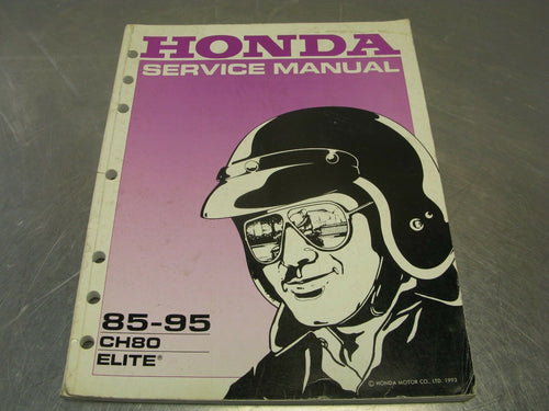 Honda Factory Service/Repair Manual Guide 1985-95 CH80 Elite