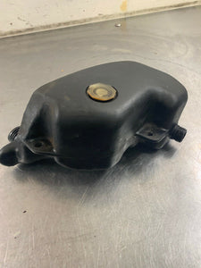 Kawasaki KH400 OEM Side Oil Tank, Cap, & Bolts Factory USED Reservoir Lid Cover