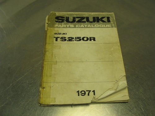 1971 Suzuki Motorcycle TS250R OEM Parts Catalog Catalogue Manual