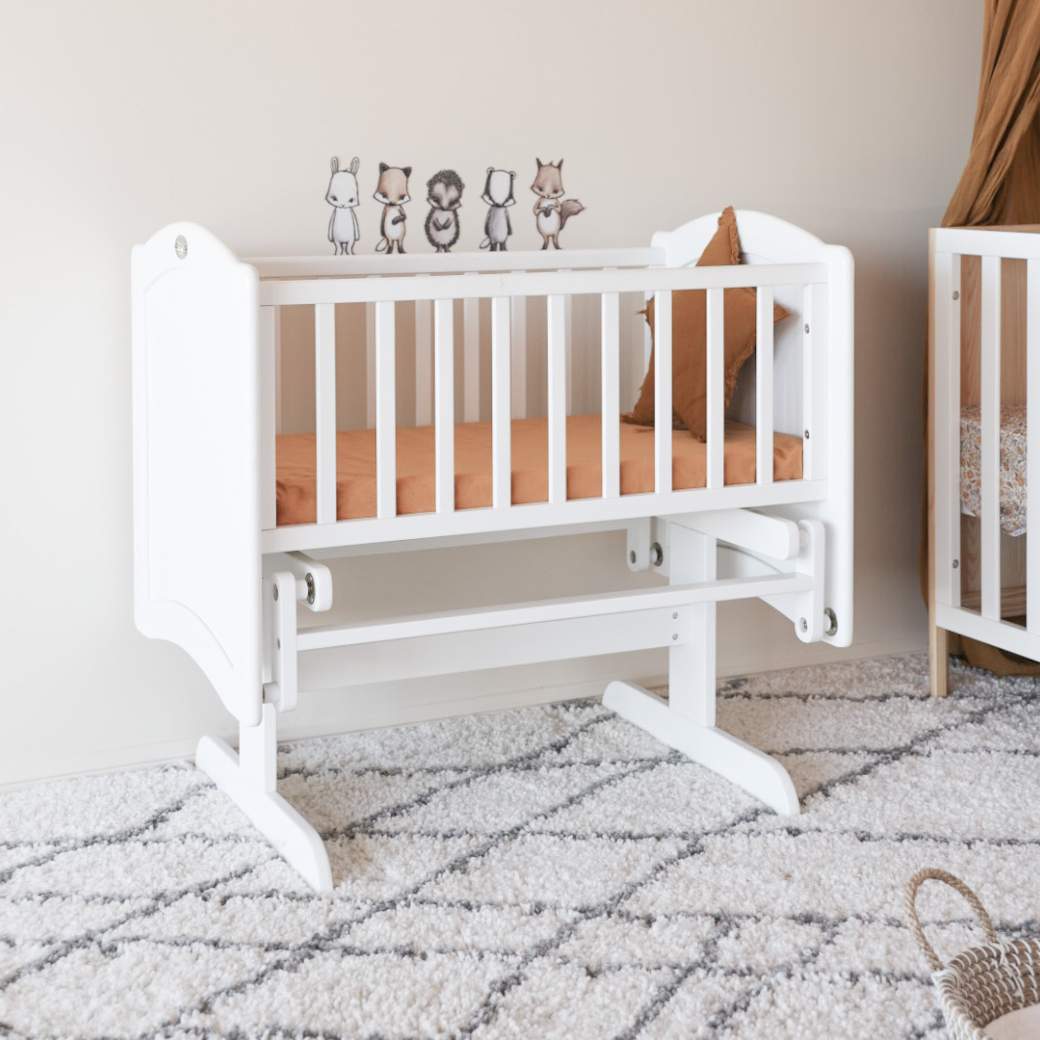 Modern Cot with Chest and Cradle