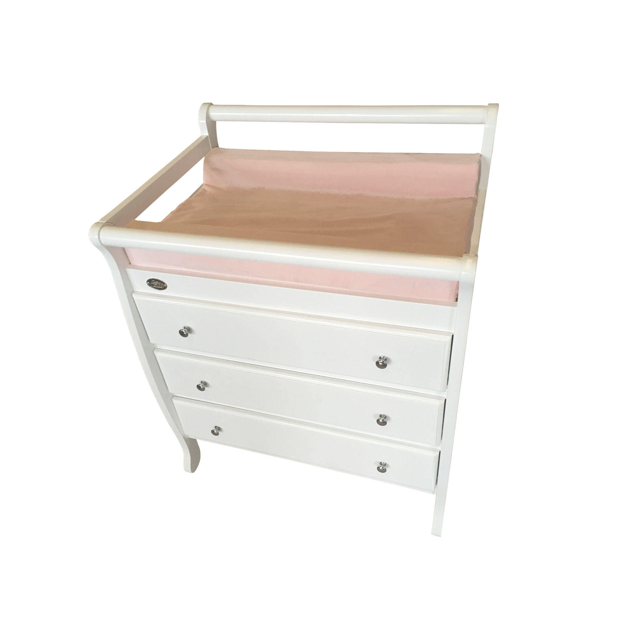 3 Drawer Changing Table with Change Mat Cover from Top Angle
