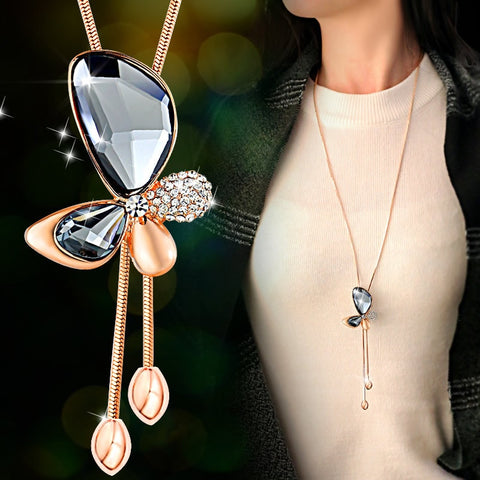 sector Original fish Crystals Necklaces 925 Jewelry