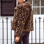 leopard print faux fur coat Women