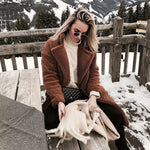 Caramel Color Lamb Fur Teddy Coats Women