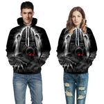3D digital printing with hat  clothing men and women models hooded sweater