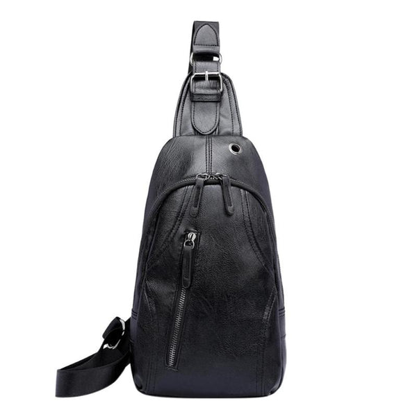 Anti-theft Men Sling Messenger Bags PU leather