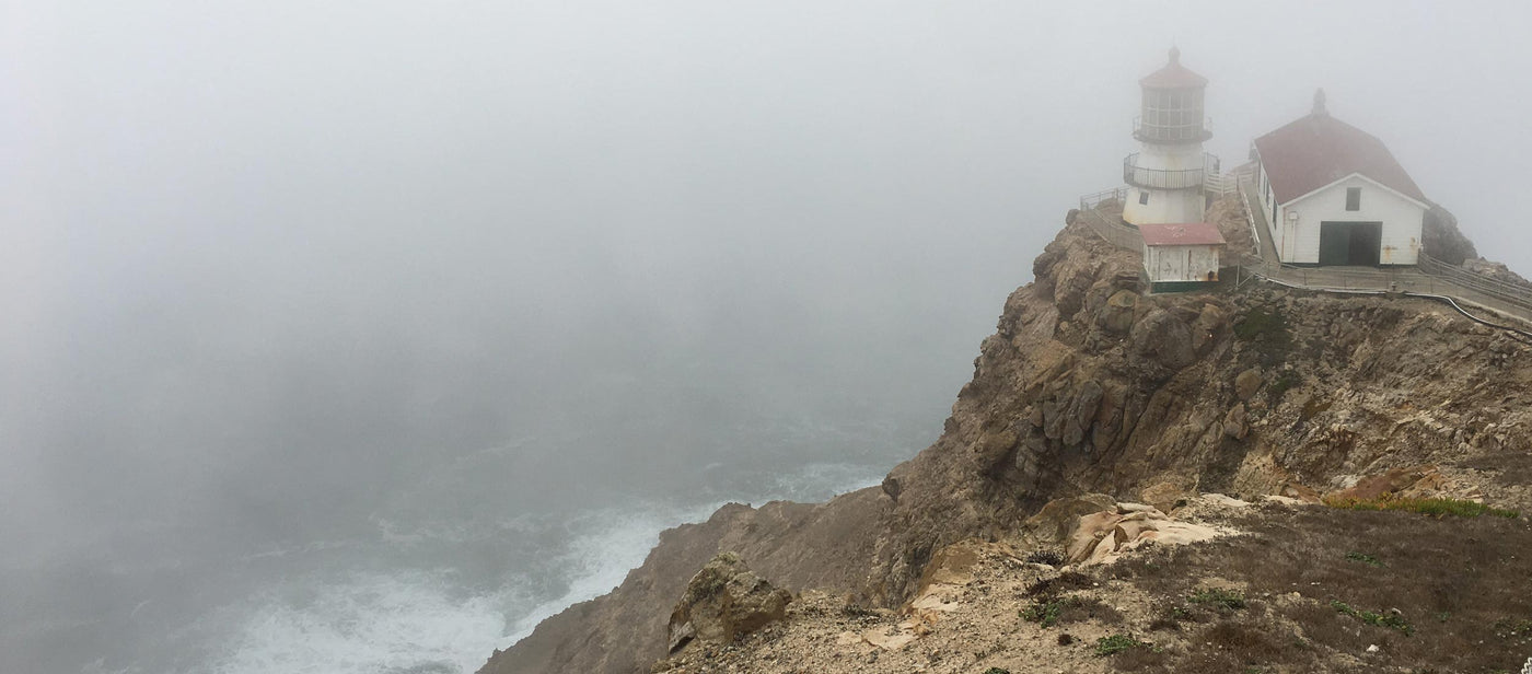 View of Point Reyes lighthouse through the fog