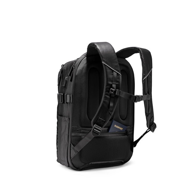 Speck Travel Business Backpack - Black - Three Quarter Rear View