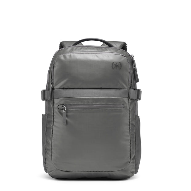Speck Travel Business Backpack - Concrete Grey - Straight Front View