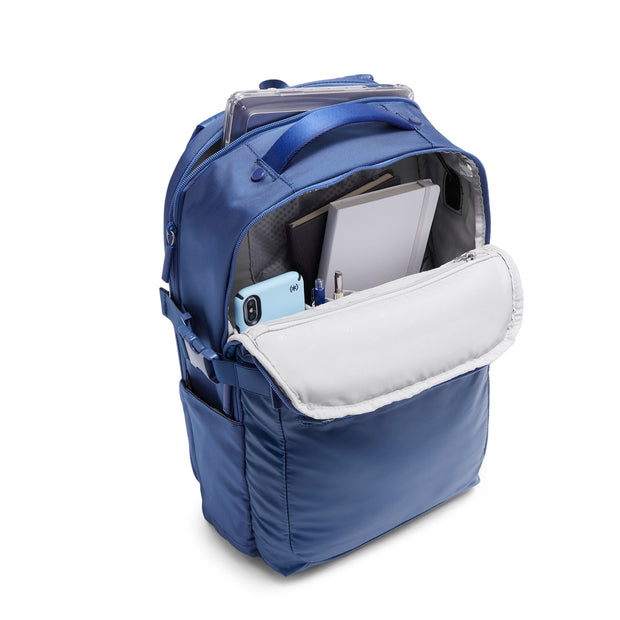 Speck Travel Business Backpack - Macaw Blue - Front Pocket View