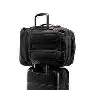 Speck Travel Travel Backpack - Black - Rear Pass-Through Sleeve on Luggage View