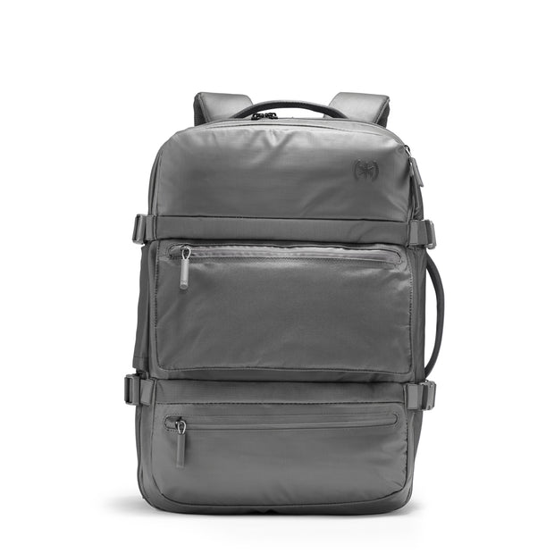 Speck Travel Travel Backpack - Concrete Grey - Straight Front View