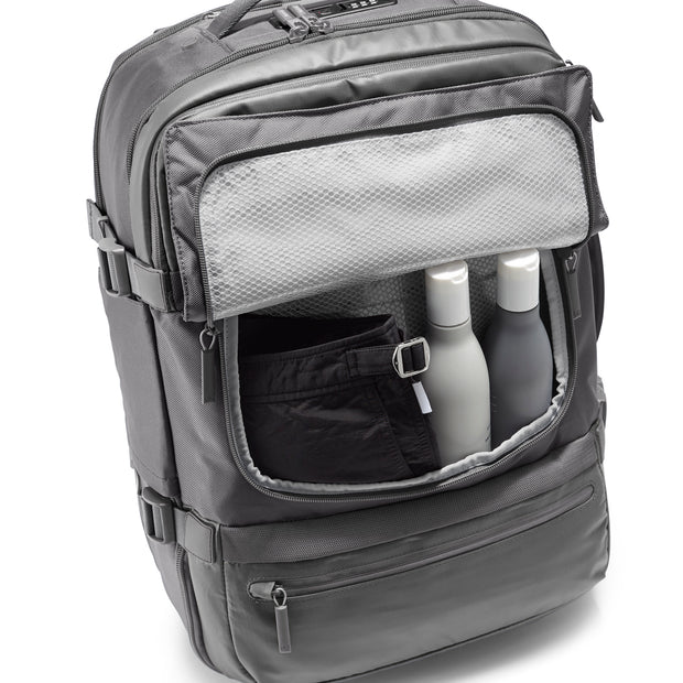 Speck Travel Travel Backpack - Concrete Grey - Front Wet Pocket View