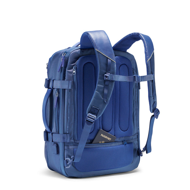 Speck Travel Travel Backpack - Macaw Blue - Three Quarter Rear View