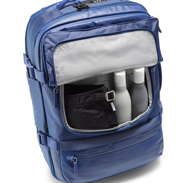 Speck Travel Travel Backpack - Macaw Blue - Front Wet Pocket View