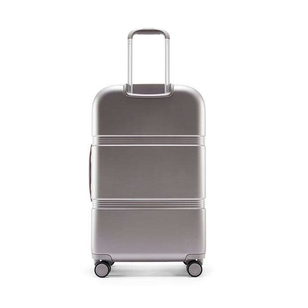 Speck Travel 26-inch Upright - Concrete Grey - Straight Back View
