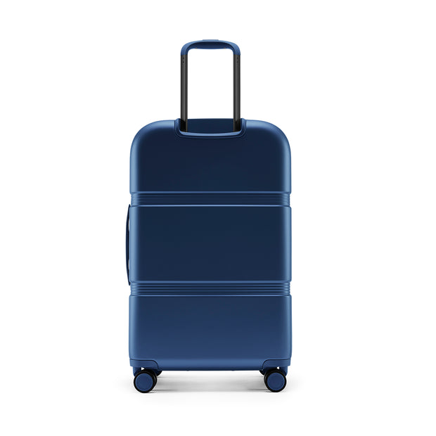 Speck Travel 26-inch Upright - Macaw Blue - Straight Back View