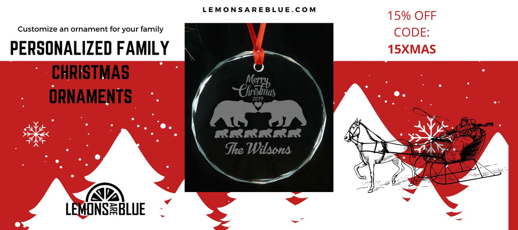 Some Personalized Family Christmas Ornaments