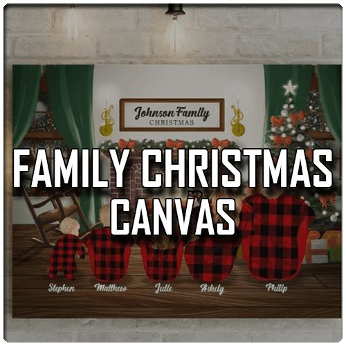Family Christmas Canvas