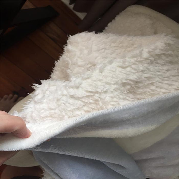 Wine Sherpa Blanket Blankets CustomCat