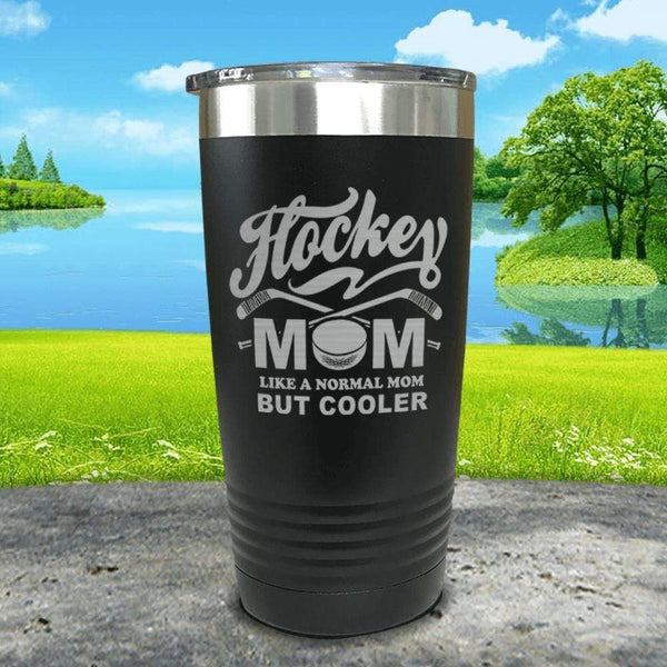 Hockey Mom But Cooler Engraved Tumblers Tumbler ZLAZER 20oz Tumbler Black