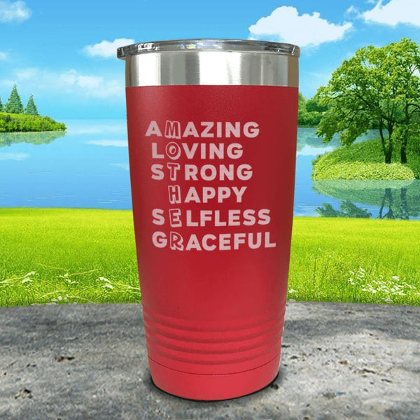 Mother Definition Engraved Tumblers Tumbler ZLAZER 20oz Tumbler Red