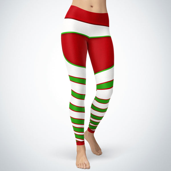 Striped Christmas Leggings