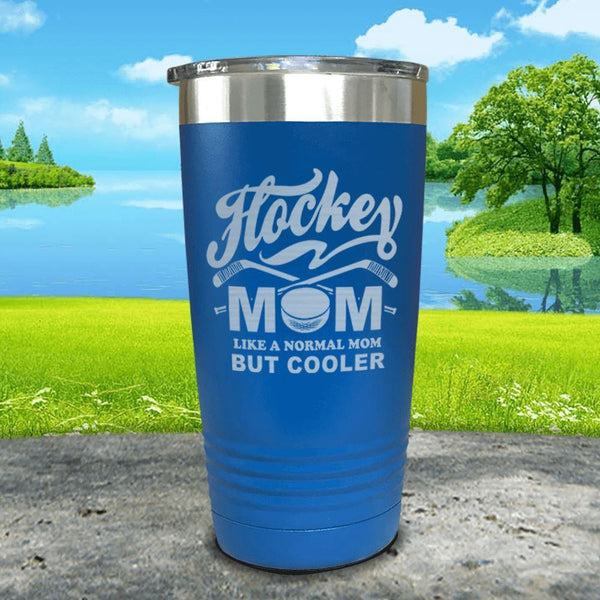 Hockey Mom But Cooler Engraved Tumblers Tumbler ZLAZER 20oz Tumbler Blue