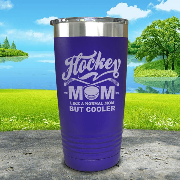 Hockey Mom But Cooler Engraved Tumblers Tumbler ZLAZER 20oz Tumbler Royal Purple