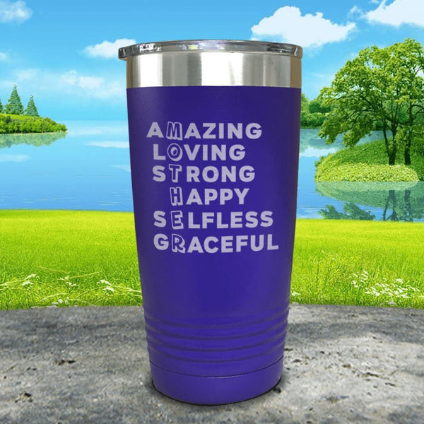 Mother Definition Engraved Tumblers Tumbler ZLAZER 20oz Tumbler Royal Purple