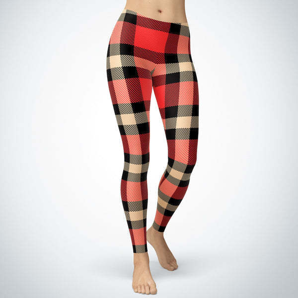 Popular Plaid Style Leggings