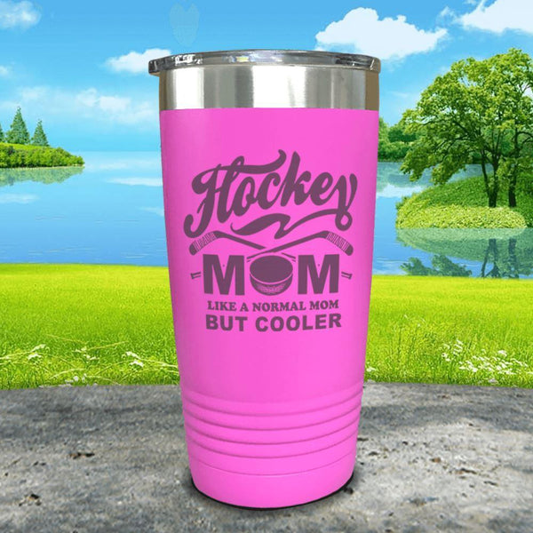 Hockey Mom But Cooler Engraved Tumblers Tumbler ZLAZER 20oz Tumbler Pink