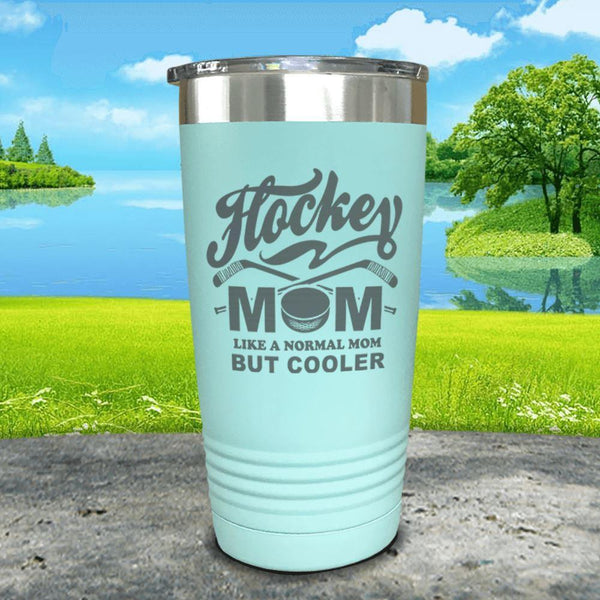 Hockey Mom But Cooler Engraved Tumblers Tumbler ZLAZER 20oz Tumbler Mint