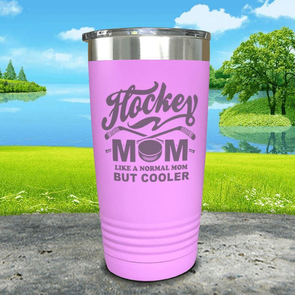 Hockey Mom But Cooler Engraved Tumblers Tumbler ZLAZER 20oz Tumbler Lavender
