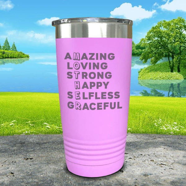 Mother Definition Engraved Tumblers Tumbler ZLAZER 20oz Tumbler Lavender