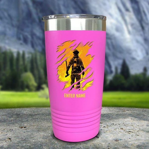Personalized Into The Inferno Color Printed Tumblers Tumbler Nocturnal Coatings 20oz Tumbler Pink