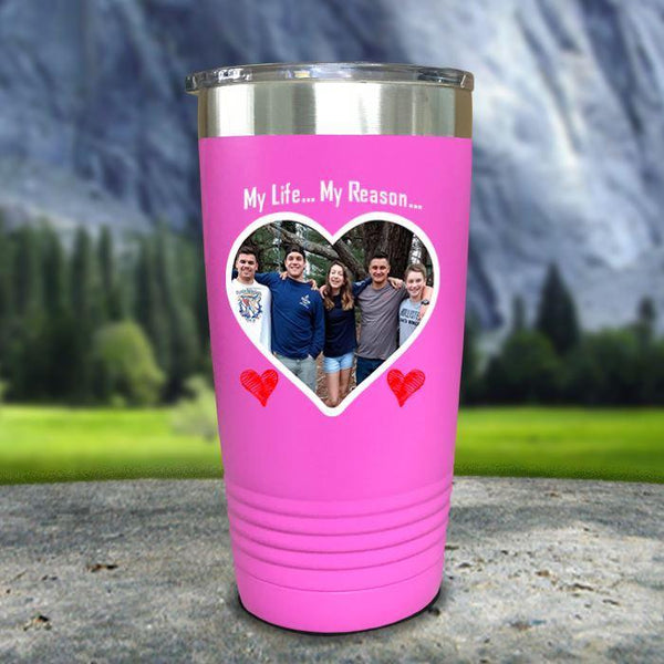 (CUSTOM) Photo Love Color Printed Tumblers Tumbler Nocturnal Coatings 20oz Tumbler Pink