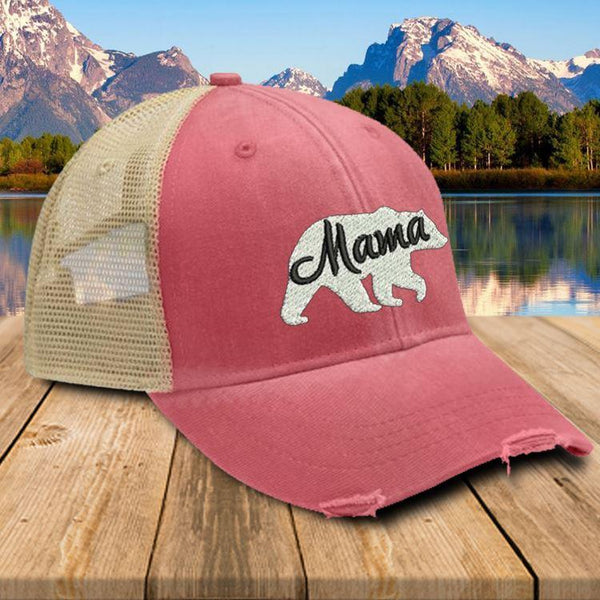 Mama Bear Premium Trucker Hat Hat Edge Nautical Red