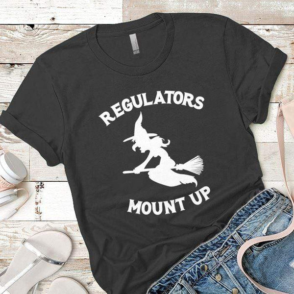 Regulators Mount Up Premium Tees T-Shirts CustomCat Heavy Metal X-Small
