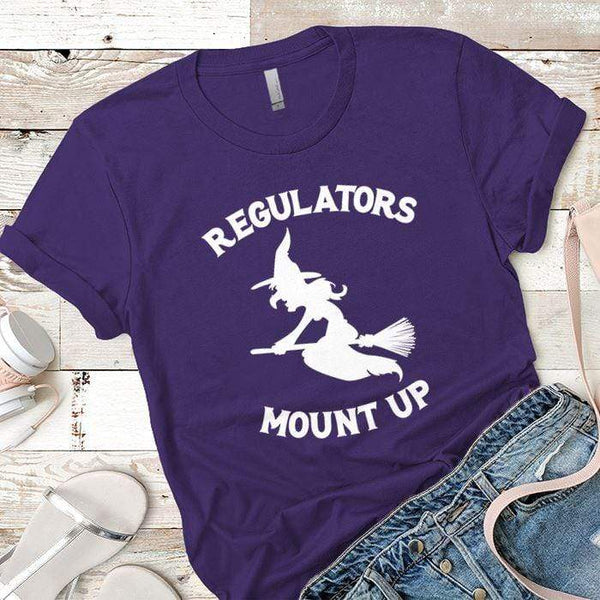 Regulators Mount Up Premium Tees T-Shirts CustomCat Purple Rush/ X-Small