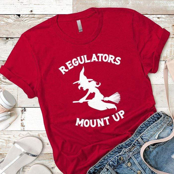 Regulators Mount Up Premium Tees T-Shirts CustomCat Red X-Small