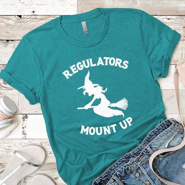 Regulators Mount Up Premium Tees T-Shirts CustomCat Tahiti Blue X-Small