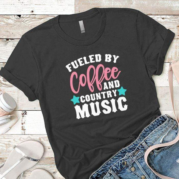 Fueled By Coffee 2 Premium Tees T-Shirts CustomCat Heavy Metal X-Small